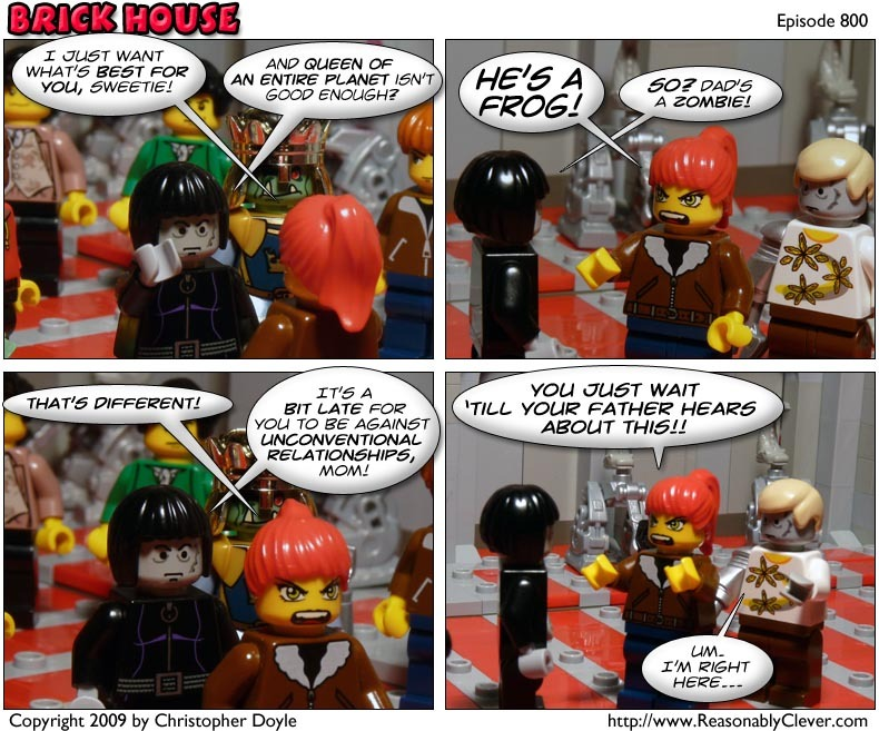 #800 – Zombies and Frogs, Apples and Oranges