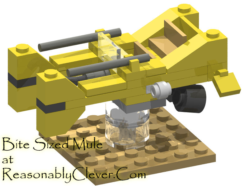 Serenitys Mule Hovercraft Rendered In Lego